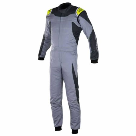 Alpinestars GP Race Suit-Grey / Anthracite / Fluro Yellow