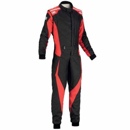 OMP Tecnica Evo Race Suit 2018-Black / Red