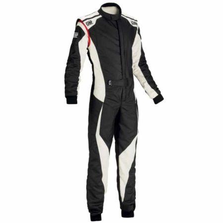 OMP Tecnica Evo Race Suit 2018-Black / White