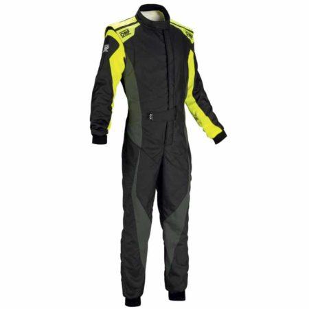 OMP Tecnica Evo Race Suit 2018-Black / Anthracite / Fluro Yellow
