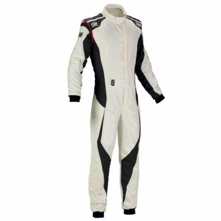 OMP Tecnica Evo Race Suit 2018-White / Antratcite