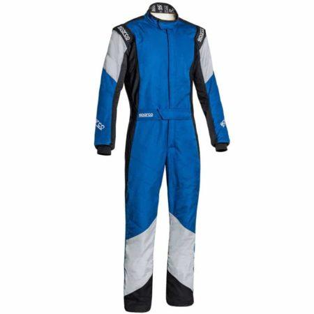 Sparco Grip RS-4 Race Suit-Blue / Black / Grey