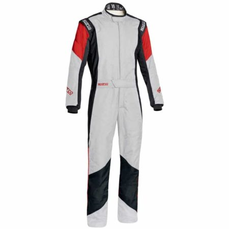 Sparco Grip RS-4 Race Suit-White / Black / Red