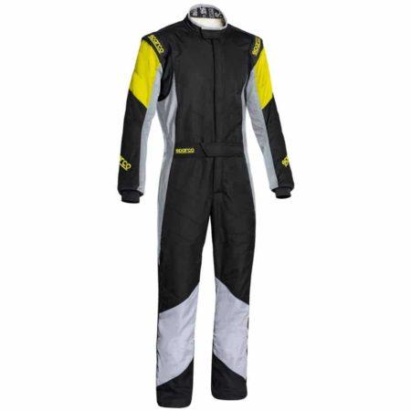 Sparco Grip RS-4 Race Suit-Black / Grey / Fluro Yellow