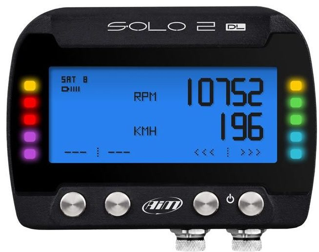 Aim Solo 2 DL GPS + ECU Car Racing Track Day Lap Timer thumbnail