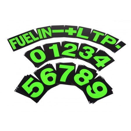B-G Racing - Standard Green Pit Board Number Set