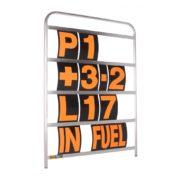 B-G Racing - Standard Silver Aluminium Pit Board