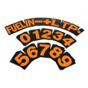 B-G Racing - Standard Orange Pit Board Number Set