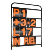 B-G Racing - Standard Black Aluminium Pit Board Kit
