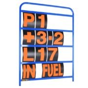 B-G Racing - Standard Blue Aluminium Pit Board Kit