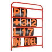 B-G Racing - Standard Red Aluminium Pit Board Kit