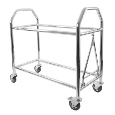 B-G Racing - Low Level Wheel and Tyre Trolley - Stainless Steel