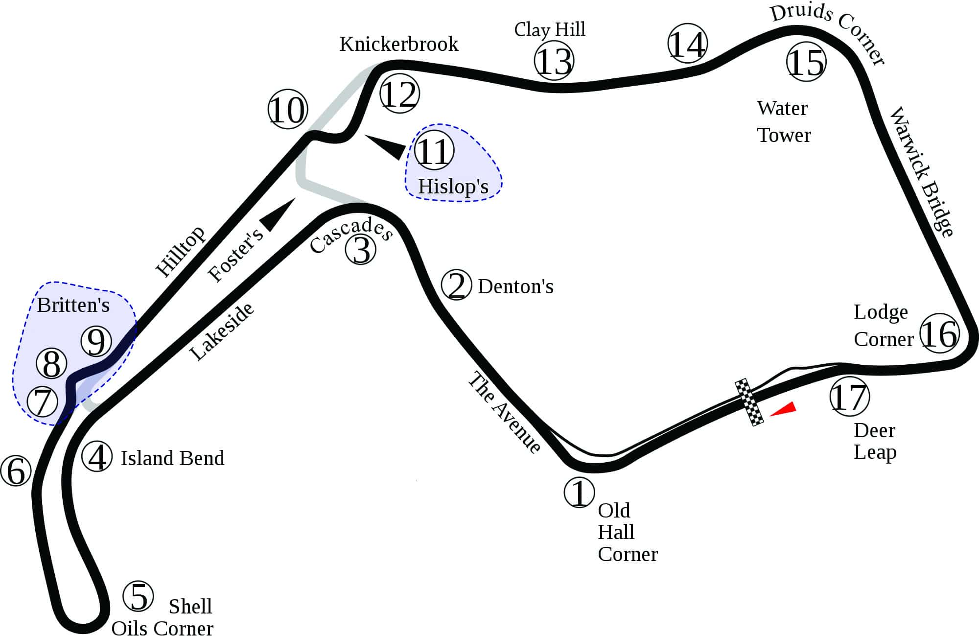 Oulton Park Circuit Guide - Track Map