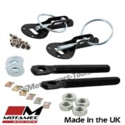 Motamec Bonnet Pins Competition Alloy with Retained Slider Lynch Pin Black Race