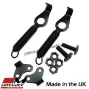 Motamec Competition Boot Body Panel Springs Holder Pair with Fixings Black Steel