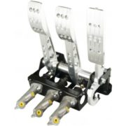 OBP Universal Pro Race Cockpit Floor Mount 3 Pedal Assembly - Rear Facing Cylinders
