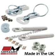 Motamec Bonnet Pins Competition Alloy with Retained Slider Lynch Pin Silver Race