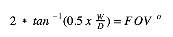 Equation for calculating FOV.