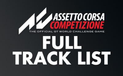 Assetto Corsa Competizione Full Track List | Updated Feb 2021