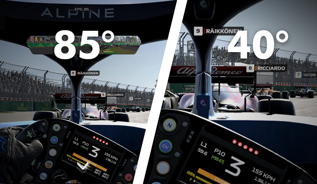 How to set FOV in F1 2021